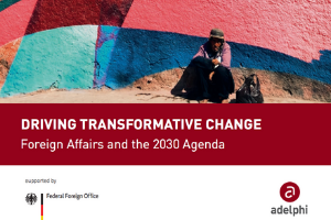 Driving Transformative Change: Foreign Affairs and the 2030 Agenda cover
