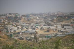 Balukhali refugee camp in Cox's Bazar, Bangladesh.