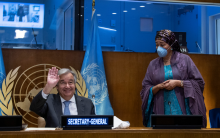 Miroslav Lajčák, President of the seventy-second session of the General Assembly, addresses the high-level General Assembly plenary meeting on peacebuilding and sustaining peace.
