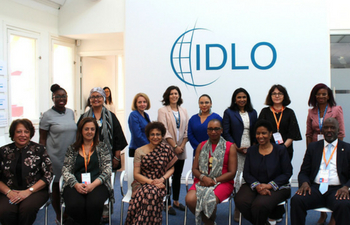 ome participants in the inaugural meeting of the High-level Group on Justice for Women.